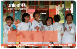 Unicef vrijwilligerspas