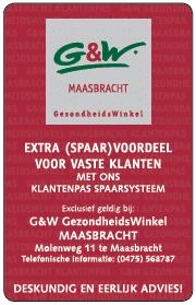 G&W spaarpas