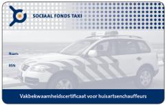 Sociaal Fonds Taxi certificaat